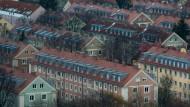 Was hier wohl die Miete kostet? Wohnhäuser im Münchener Stadtteil Schwabing-Freimann
