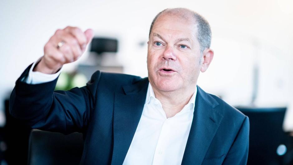 Bundesfinanzminister Olaf Scholz auf einem Bild aus dem Januar