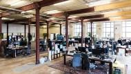 Machen Industrielofts kreativer? Unser Bild zeigt den Blick in das Spin-Lab der Leipziger Business School.