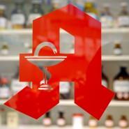 Logo an einer Apotheke in Baden-Baden