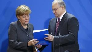 Merkel weist Schuld an schwacher Konjunktur zurück