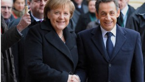 Merkel und Sarkozy gemeinsam gegen Einheitszins