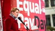 """Bundesfamilienministerin Giffey am 18. März auf einer Veranstaltung zum """"Equal Pay Day"""""""