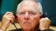 Schäuble: Die Schwarze Null steht