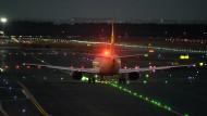 Jetzt aber schnell: Nachtflug auf dem Flughafen Frankfurt