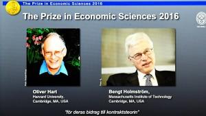 Wirtschaftsnobelpreis geht an Oliver Hart und Bengt Holmström