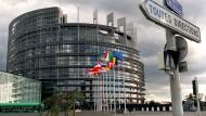 In alle Richtungen: Das Gebäude des Europäischen Parlaments in Straßburg.