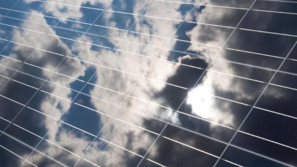 Solarzellen bei schlechtem Wetter