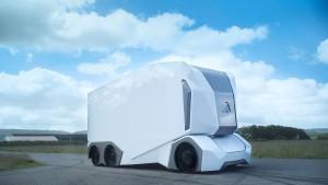 Ein selbstfahrender E-Laster aus Schweden