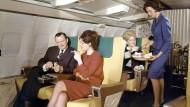 In der First Class: So reisten im Jahr 1965 noch relativ viele Fluggäste.