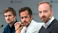 Die Köpfe hinter der Plattformstrategie: David Schneider, Robert Gentz und Rubin Ritter (von links). Letzterer wird Zalando im Mai verlassen.