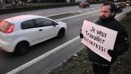 Frankreichs Arbeitslosenquote steigt überraschend an