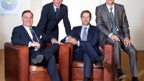 Frank Nolte (links), Vorsitzender des Bundesverbands Presse-Grosso, mit seinen Vorstandskollegen