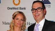 Steven Mnuchin mit seiner Frau Heather in Beverly Hills.