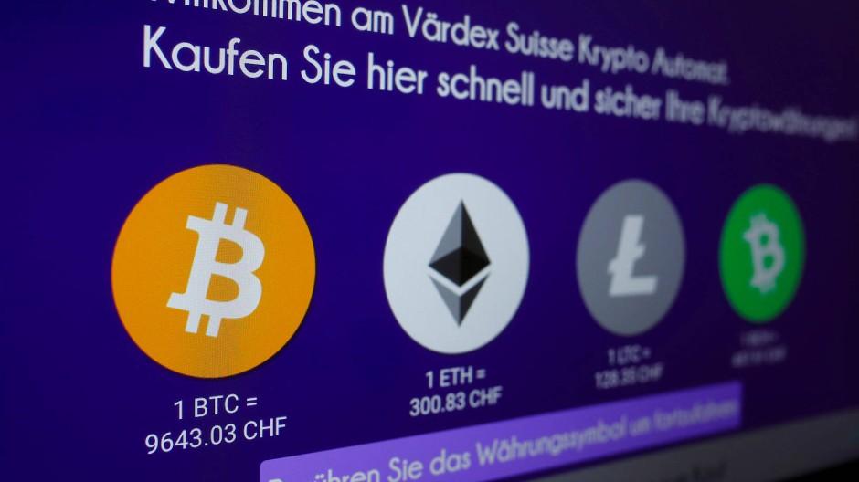 """Ein Krypto-""""Geldautomat"""" des Unternehmens Värdex in Zürich"""
