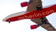 Könnte künftig von der Lufthansa gemietet werden: Flugzeug von Air Berlin.