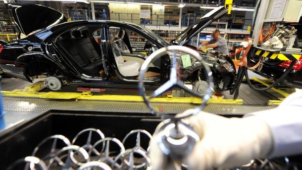 Automobilindustrie Daimler K Rzt Die Produktion Der S