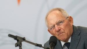 Schäuble sieht EZB am Ende ihrer Möglichkeiten
