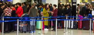 Reger Betrieb im Terminal am Frankfurter Flughafen.