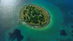 Ausländer kommen praktisch an keine Insel