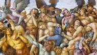 Die Hölle, gemalt im Jahr 1499 von dem italienischen Maler Luca Signorelli in der Capella della Madonna der Kathedrale von Orvieto.
