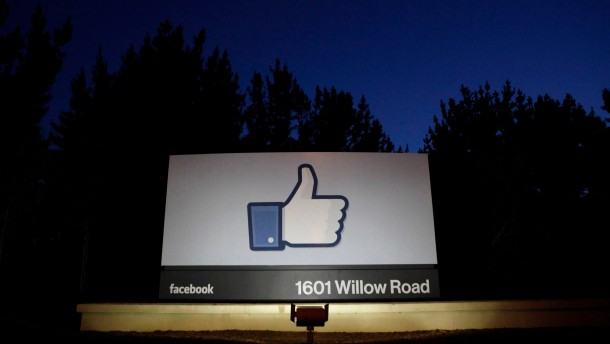 File photo of the entrance to the Facebook headquarters in Menlo Park
