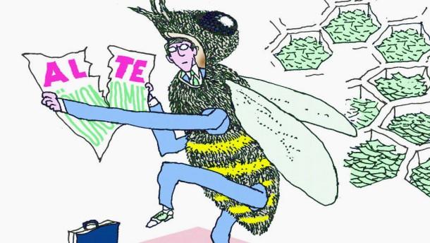 Illustration /  Tresckow / Wirtschaft Bienen lügen nie