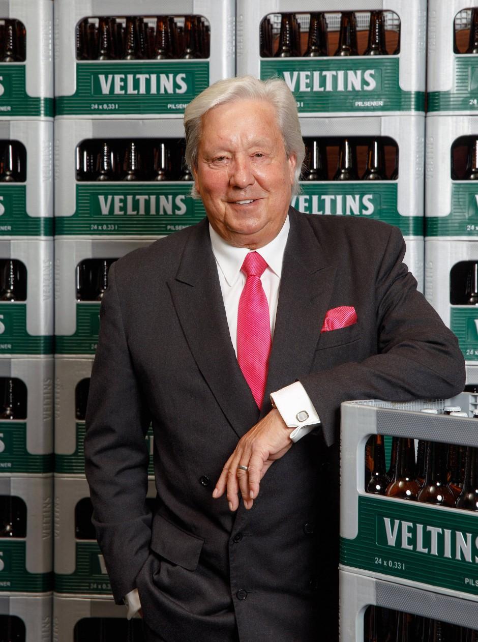 """""""Wir stellen trotzdem ein"""", sagt Michael Huber, der Generalbevollmächtigte der Brauerei Veltins."""