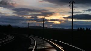 Stromautobahnen entlang der Bahn
