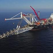 Das Verlegeschiff von Nord Stream 2 in der Baltischen See.