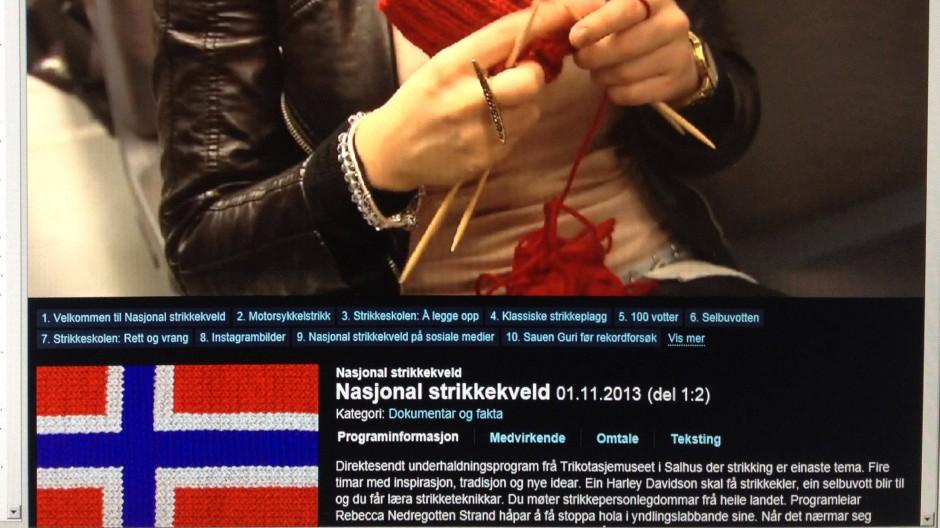 Maschen für Millionen: Stricknacht im norwegischen Fernsehen
