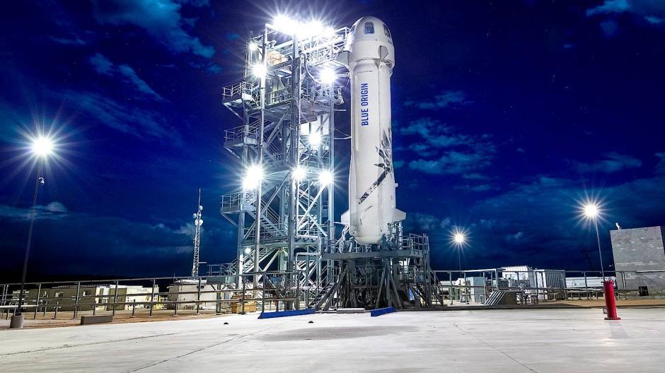 Amazon-Gründer Jeff Bezos hat auch ein Weltraumunternehmen: Blue Origin