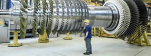 Turbinenherstellung von Siemens in Berlin.