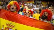 Jubelnde Spanier - hier während der Basketball-Europameisterschaft.