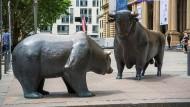 Bulle und Bär vor der Frankfurter Börse