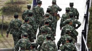 Truppenverstärkung in den Krisengebieten Chinas