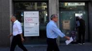 Filialen von Banco Popular gibt es auch in Madrid.