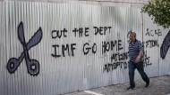 Der Internationale Währungsfonds ist nicht überall beliebt. Auch nicht in Athen.