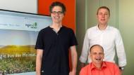 Männer am Strom: Bernhard Böhmer (links), Christian Chudoba (sitzend) und Oliver March von Lumenaza