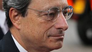 Draghi stellt sich am Mittwoch den Bundestags-Ausschüssen