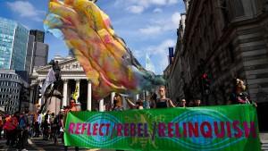 Finanziers wenden sich von Extinction Rebellion ab