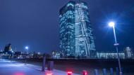 Die Europäische Zentralbank hat ihren Sitz in Frankfurt.