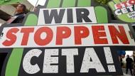Auch das Handelsabkommen Ceta steht auf der Kippe