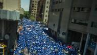 Im südafrikanischen Johannesburg protestieren Bürger gegen die Arbeitslosigkeit.