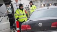 Grenzkontrolle zwischen Dänemark und Deutschland