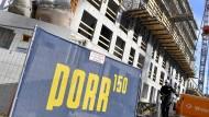 Porr-Baustelle in Wien