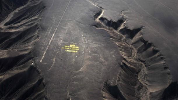 Schelte für Greenpeace-Aktion an Kultstätte in Peru