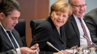 Kanzlerin Angela Merkel während der Kabinettssitzung an diesem Mittwoch.