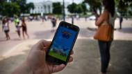 Auch vor dem Weißen Haus suchen Spieler nach Pokemon-Figuren.