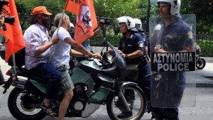 Municipal employees protest in Athens